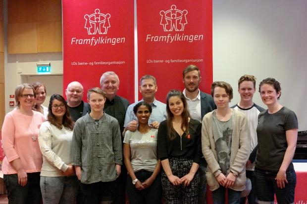 Gruppebildet av Sentralstyret i Framfylkingen 2015-2017