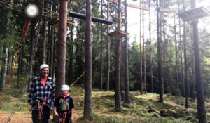 I klatreparken Stiggart med Solør Framlag, Tormod og Alexander