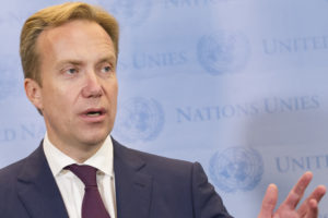 Press Encounter with the Minister for Foreign Affairs of Norway, H.E. Mr. B¿rge Brende, will address press following the Ad Hoc Liaison Committee (AHLC) Meeting