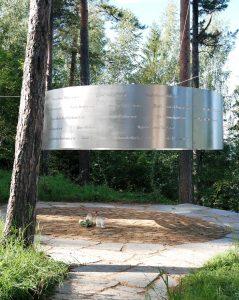 minnestedet over alle de som falt under trrorangrepet på utøya 22.juli 2011