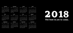 viser kalender for 2018