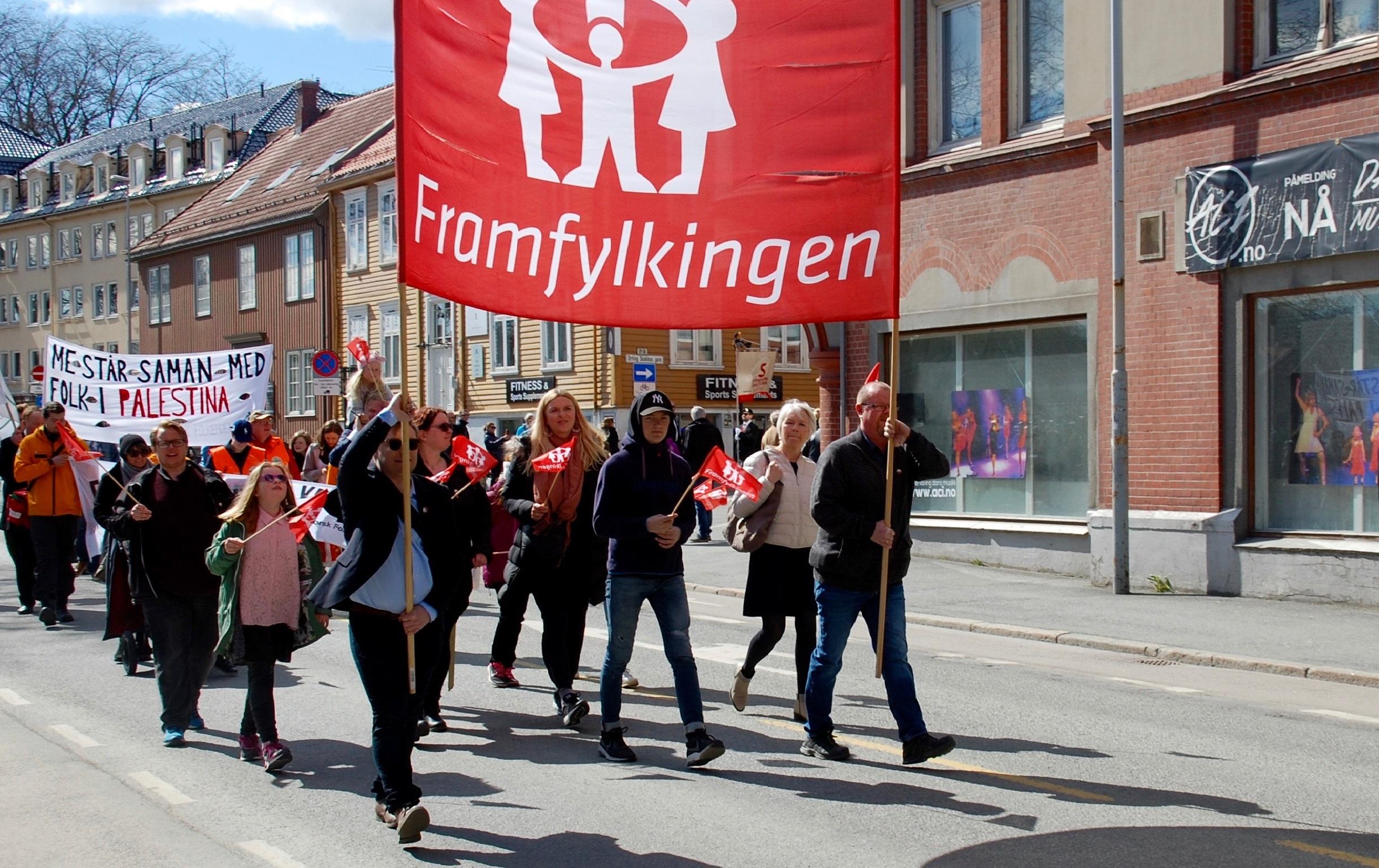 Trondheim Framlag i 1.mai toget